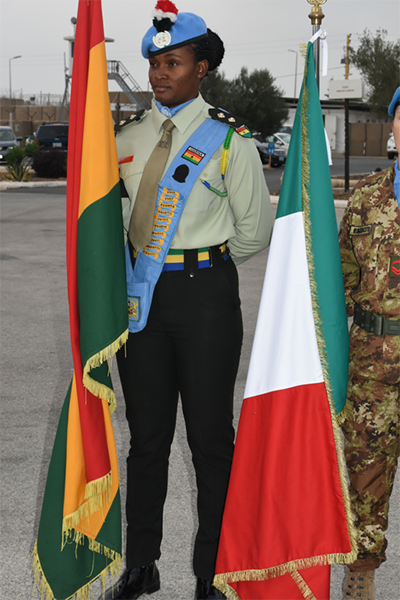 Lieutenant Tracy Telfer recently had the honour of being the first woman to carry the flag of Ghana at a special ceremony.