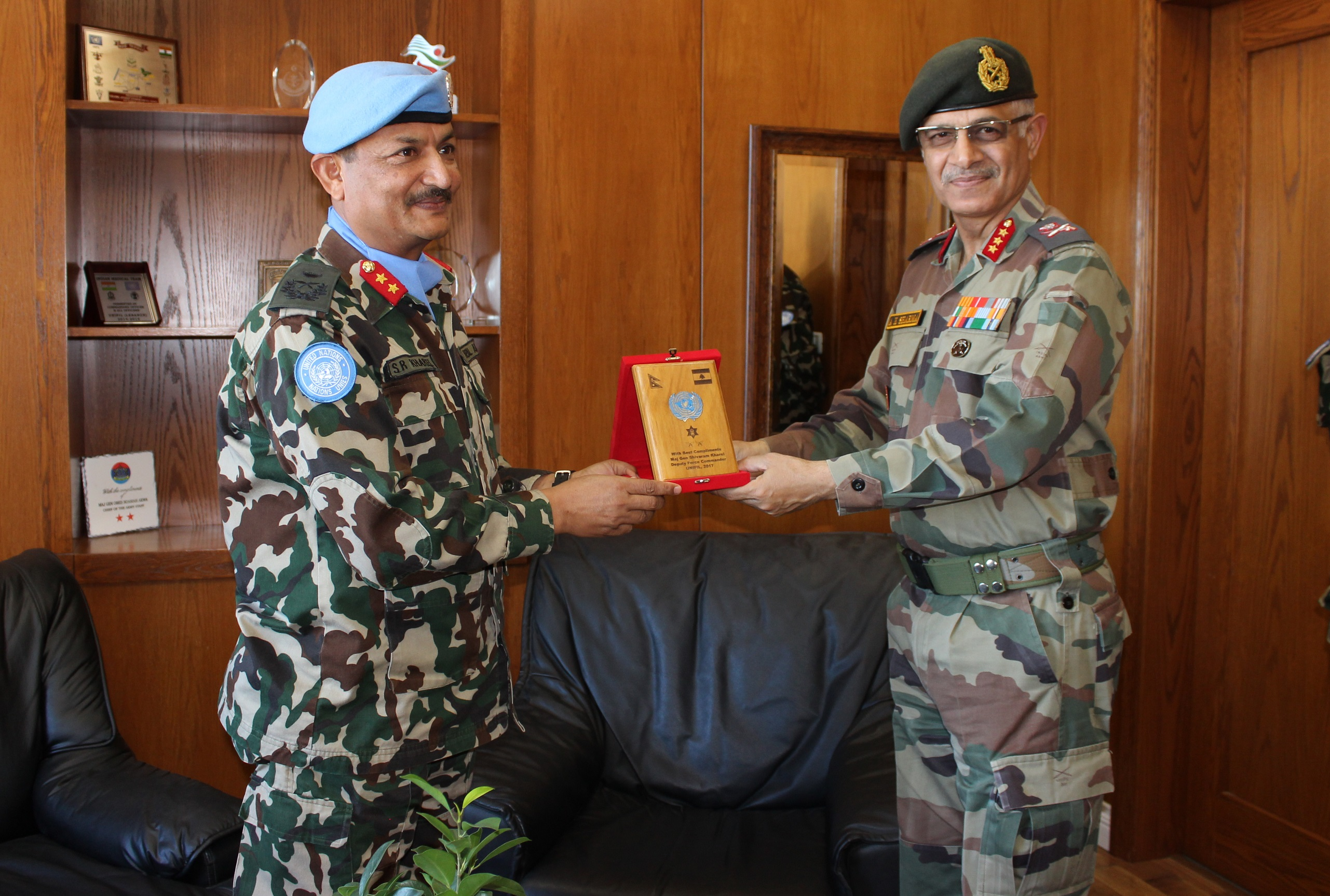 senior indian army officer visits unifil