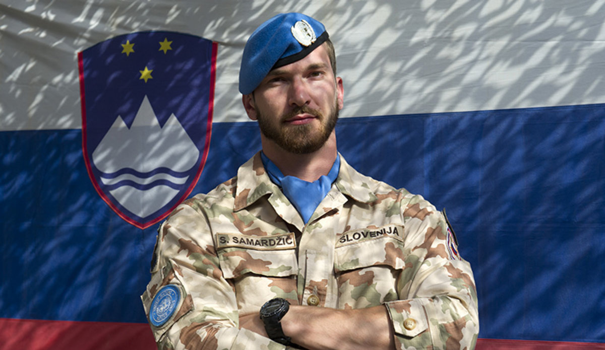 portrait of a slovenian peacekeeper unifil