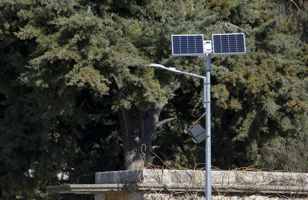 These solar powered street lights have been donated by UNIFIL Spanish Battalion.
