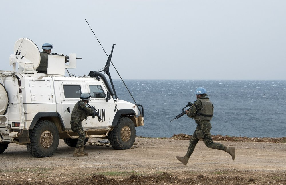 UNIFIL peacekeepers in action during Steel Storm, the five-day joint live firing exercise with UNIFIL and LAF.