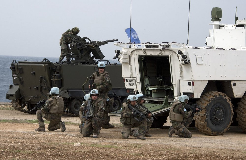 UNIFIL peacekeepers deploy during Steel Storm, the five-day joint live firing exercise with LAF.