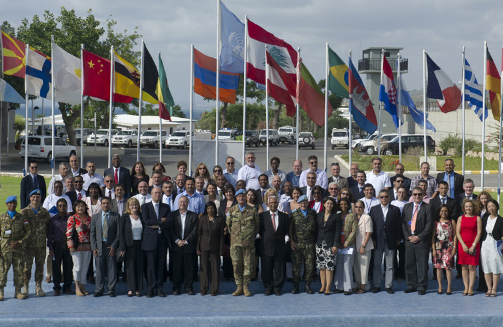 Group photo after Umoja inauguration ceremony at UNIFIL HQ in Naqoura, south Lebanon