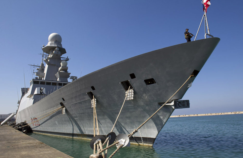 The Andrea Doria, Italian naval vessel and latest addition to UNIFIL's Maritime Task Force.