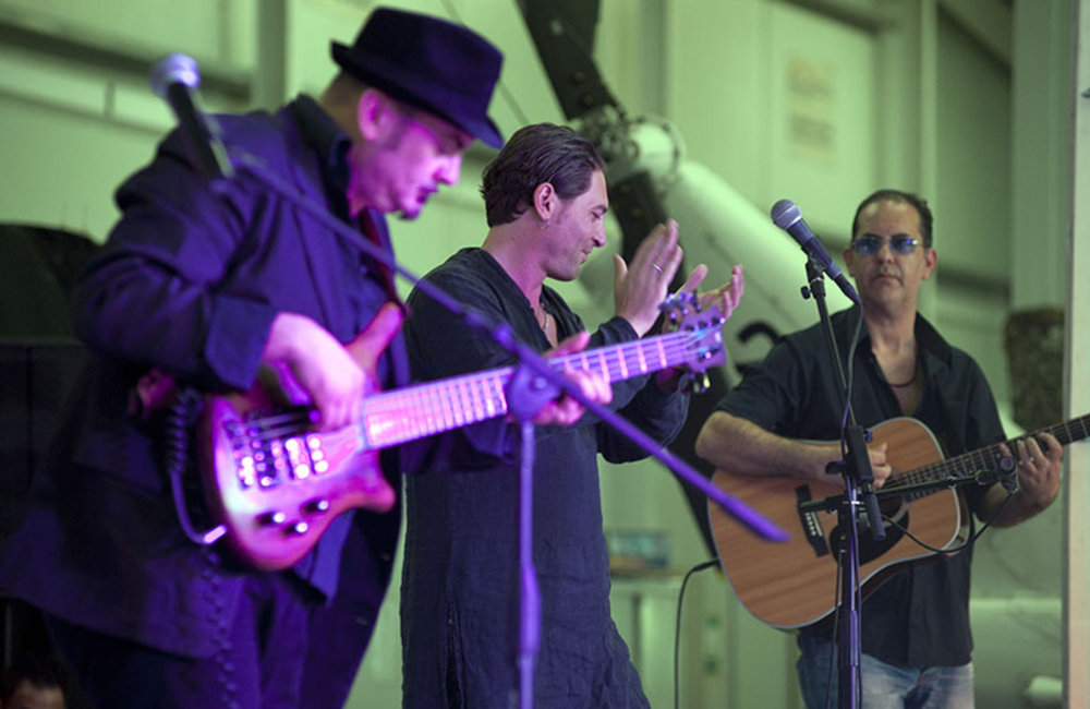 "Italian band ,""Vibrazioni Mediterranee"", during a performance at the ""Music for Friendship"" at UNIFIL's headquarters in Naqoura."