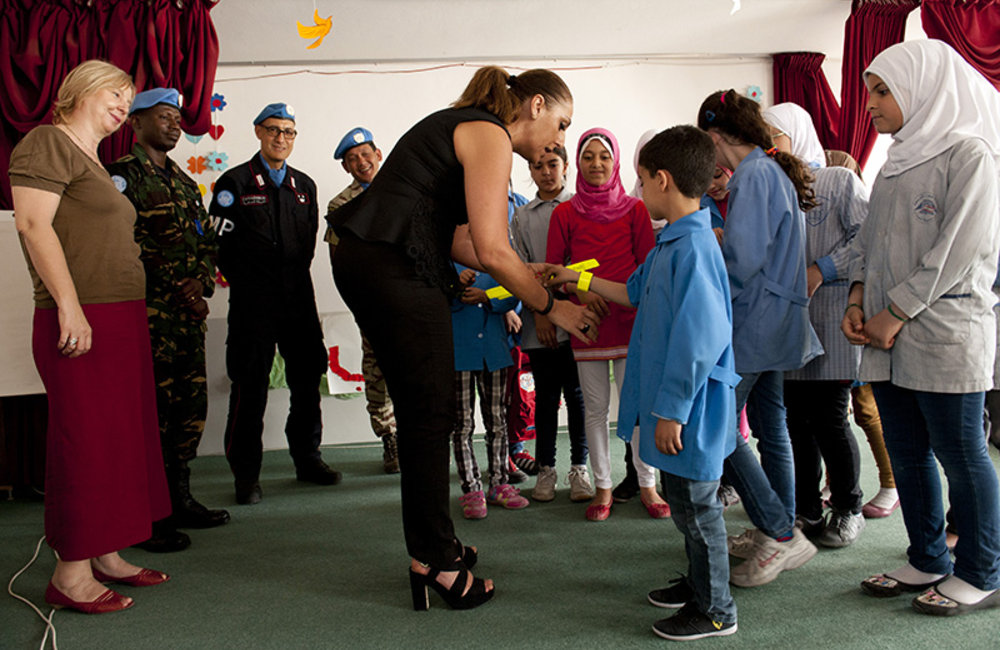Unveiling UNIFIL's 'Road Safety' poster