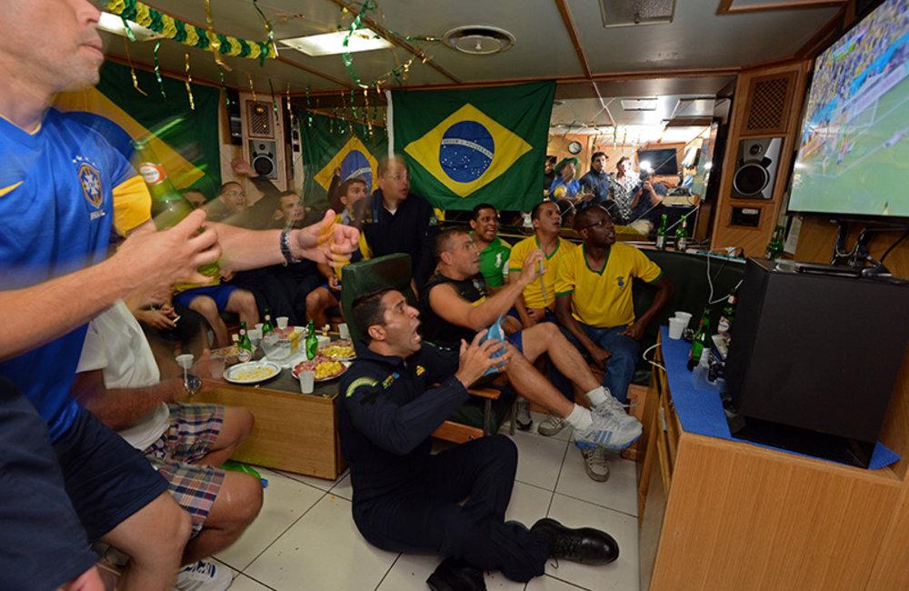 World Cup kicks off onboard UNIFIL MTF