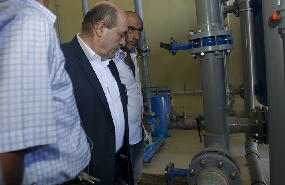 Inauguration of a water treatment system in Naqoura