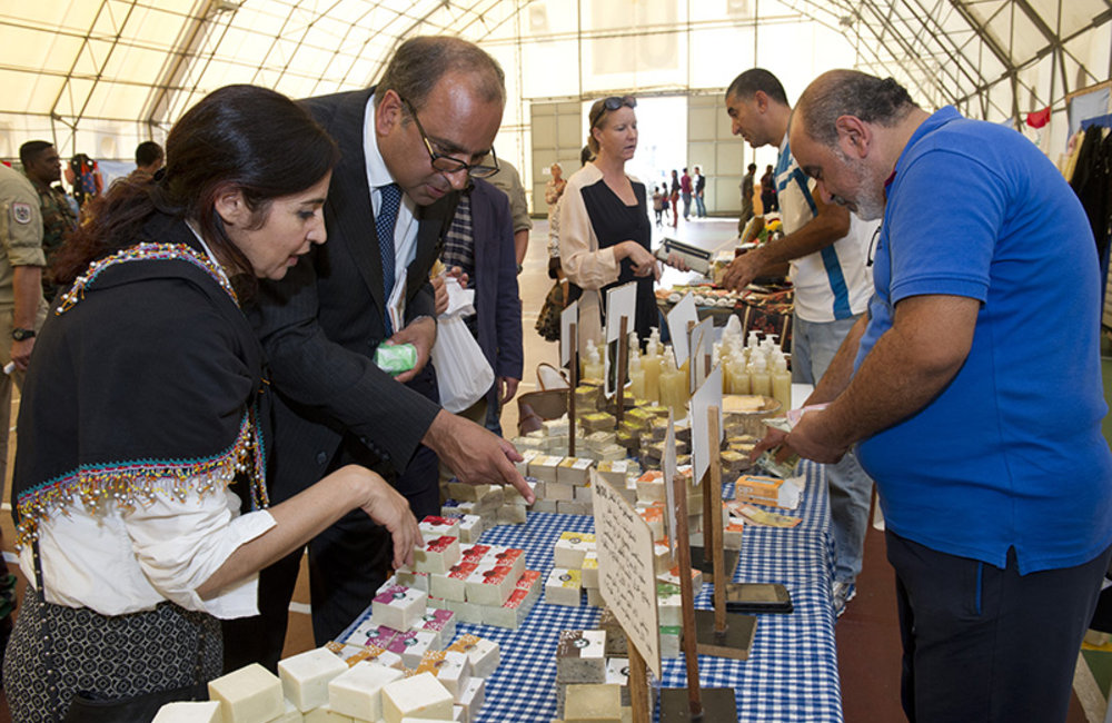 Traditional Lebanese Products on display at UNIFIL