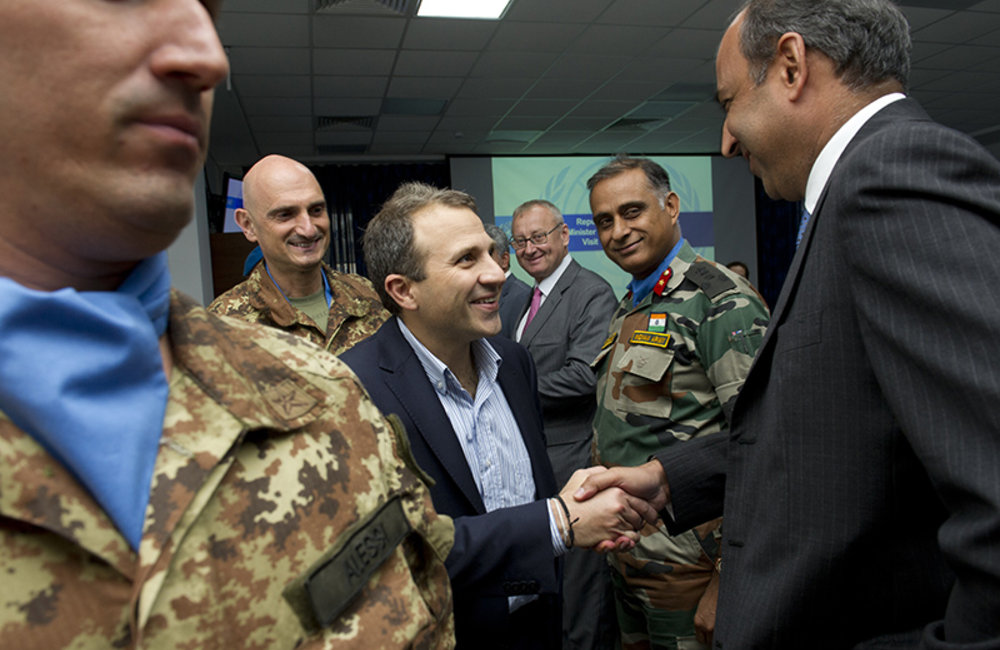 Lebanese Foreign Minister visits UNIFIL
