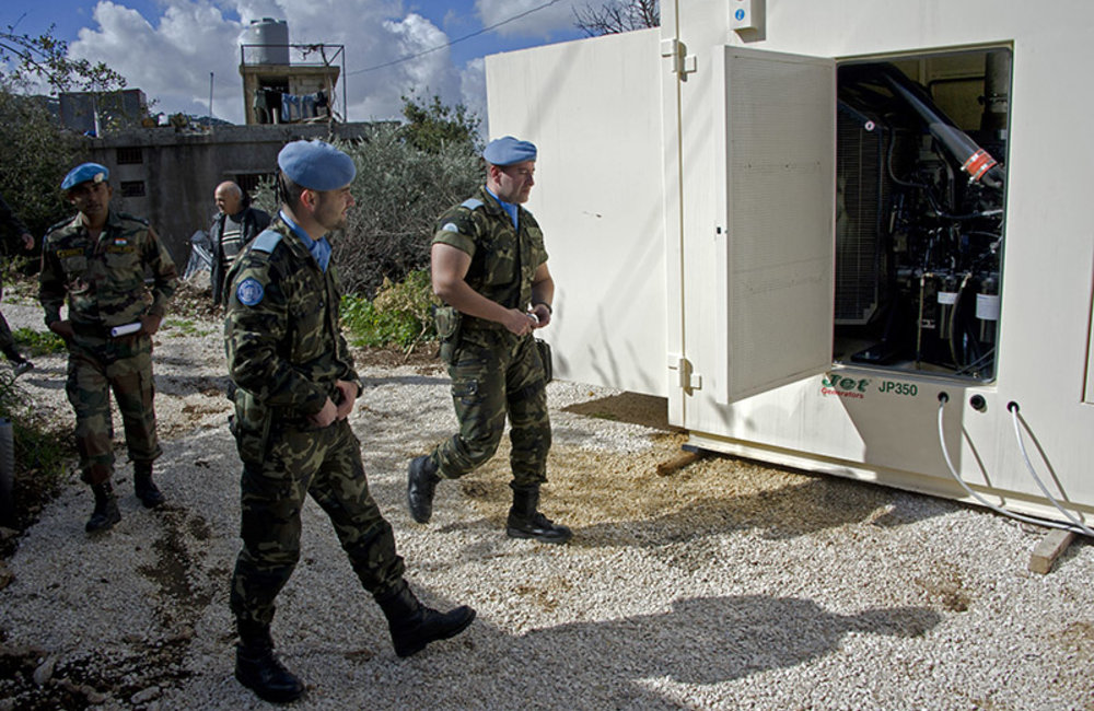 UNIFIL Civil Affairs and the Indian Battalion supported Hebbariyeh with a 350KVA power generator.