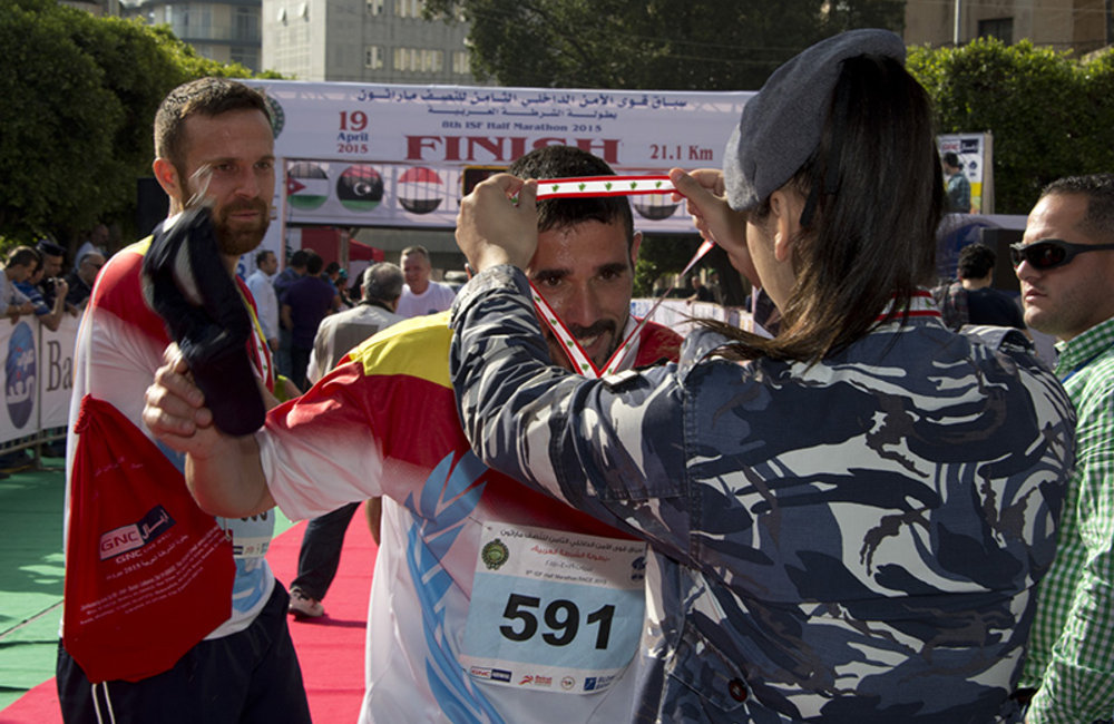 UNIFIL runs the ISF half-marathon