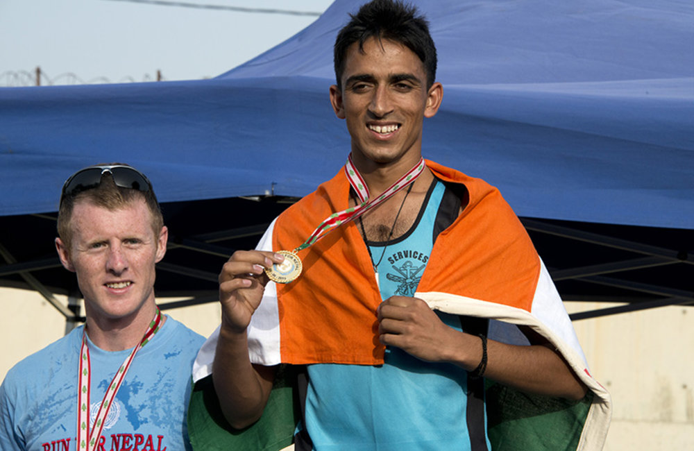 Sergeant Dinesh Kumar from INDBATT and Captain Mark Conway the Irish peacekeeper finished in first and second place respectively.
