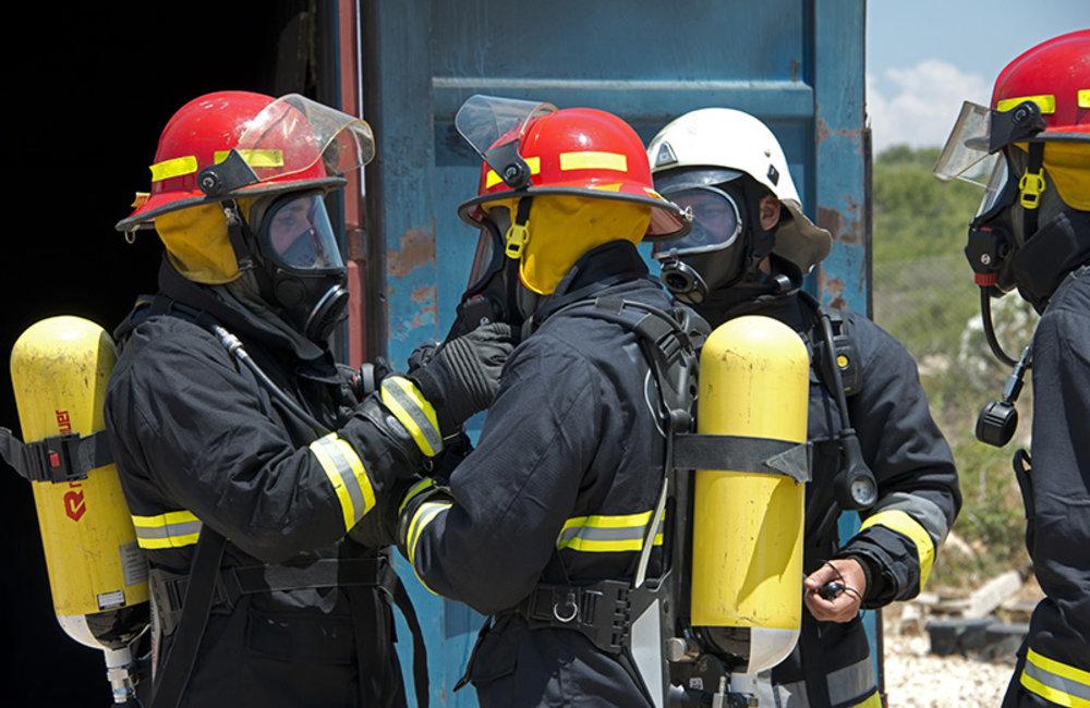 UNIFIL, Lebanese Civil Defense exchange expertise for firefighting