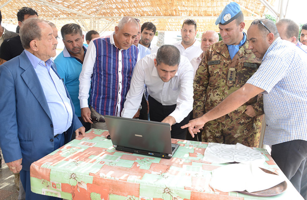 UNIFIL's topographical assistance to Tyre municipalities