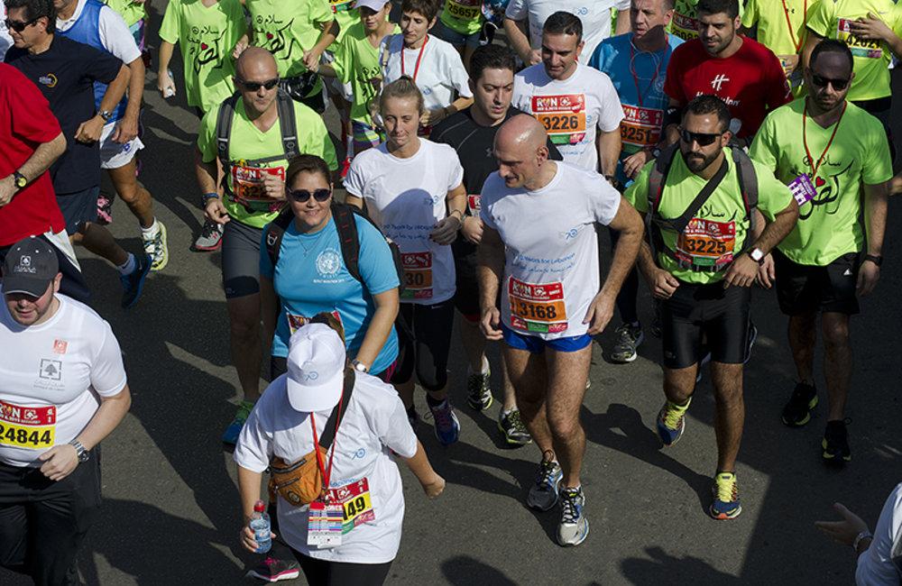 The Head of Mission and Force Commander Maj-General Luciano Portolano ran the 10Km Fun Race.