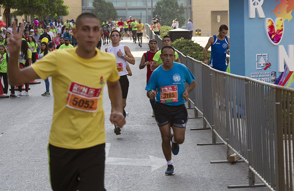 174 military and civilian staff from UNIFIL ran the race alongside more than 38,000 participants.
