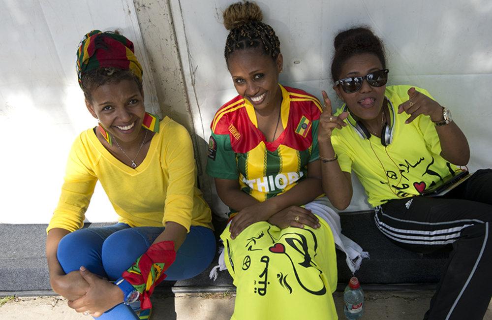 Ethiopian fans after the medal distribution ceremony.
