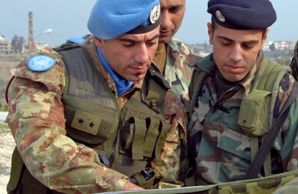 UNIFIL's operations and exercises with the Lebanese army
