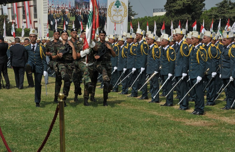 A LAF guard of honor at the Army Day event in Beirut.
