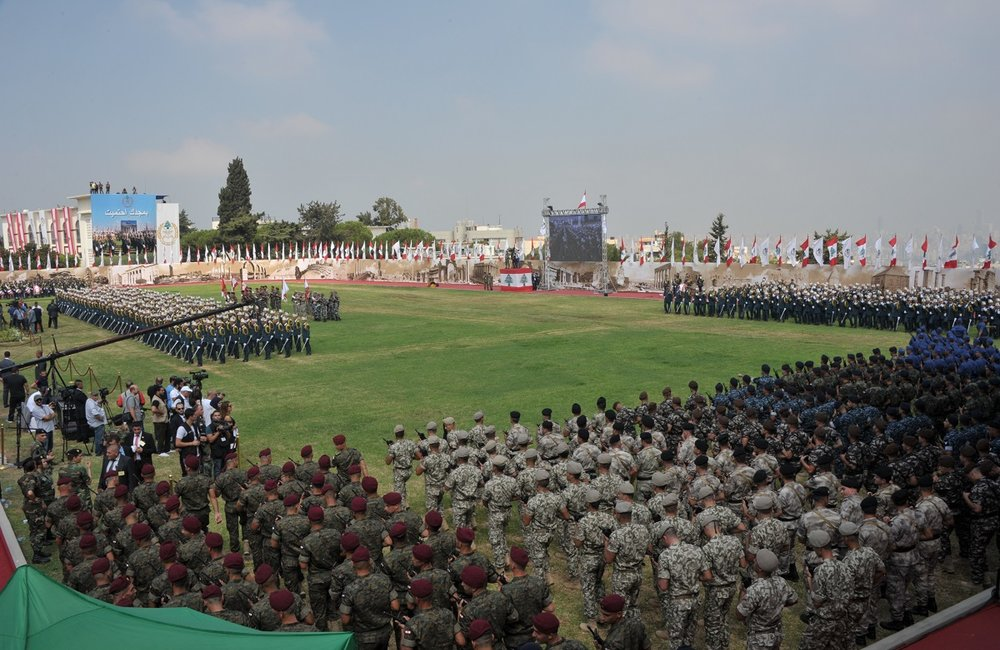 The ceremony marks the 72nd anniversary of the founding of the Lebanese Army.