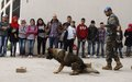 Joint activity in UNIFIL's Sector East to teach Lebanese students about dangers of UXOs