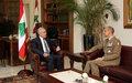 UNIFIL Force Commander meets Lebanese leaders in Beirut