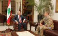 UNIFIL Force Commander Meets Lebanese Leaders