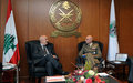 UNIFIL Force Commander visits Minister of Defence