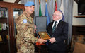 President of the Republic of Ireland inspects country's troops in UNIFIL
