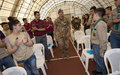 Children of Lebanese army martyrs and scouts visit UNIFIL