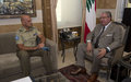 UNIFIL head continues with his farewell calls with Lebanese authorities