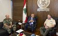UNIFIL Head of Mission Major-General Beary meets Deputy Prime Minister and Defense Minister Samir Moqbel
