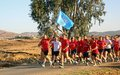 Lebanese soldiers join UN peacekeepers in peace relay march