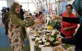 Entrepreneurs from south Lebanon display local products at UNIFIL