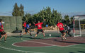 Friendly sports event between French and Lebanese soldiers