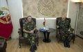في اجتماعه مع قائد القوات المسلحة اللبنانية الجديد، رئيس بعثة اليونيفيل يؤكد على تعزيز التعاون