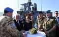 الرئيس الألماني يزور سفينة تابعة لقوّة اليونيفيل البحرية