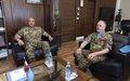UNIFIL Head of Mission Major General Del Col hosts LAF Commander General Aoun in UNIFIL HQ