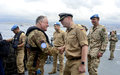 On visit to LAF Navy base, UNIFIL head says MTF exit strategy linked to LAF capabilities