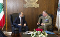 UNIFIL Head of Mission and Lebanon's new Defence Minister hold their first meeting