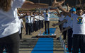 UNIFIL's Indian peacekeepers organize mass yoga session