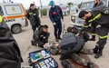UNIFIL French firefighters train with Lebanese Civil Defense volunteers
