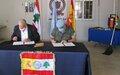Spanish peacekeepers donate firefighting equipment to Civil Defense
