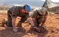 LAF soldiers train with UNIFIL peacekeepers on explosives disposal