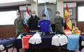 Spanish peacekeepers donate sports equipment to under-15 soccer club