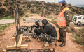 Lebanese security officers train with Italian peacekeepers on precision shooting