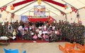 Young children visit UNIFIL base in Meis Ej Jebel