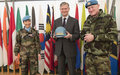 UN Peacekeeper helmet returns to south Lebanon 40-years after the establishment of UNIFIL