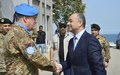 Defence Minister Bou Saab visits UNIFIL HQ, tours Blue Line
